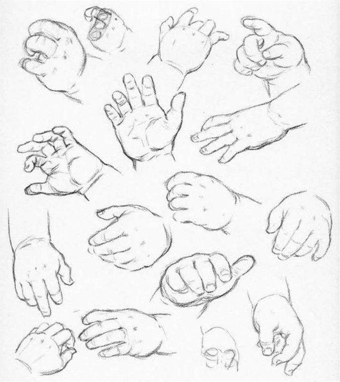рисунки руками детей: